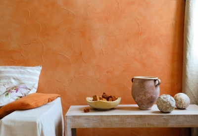 Interieur maison orange for Peintures interieures couleurs