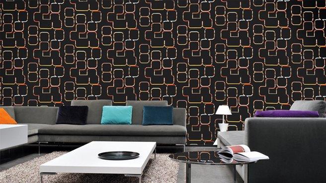 2014 le retour des papiers peint. Black Bedroom Furniture Sets. Home Design Ideas