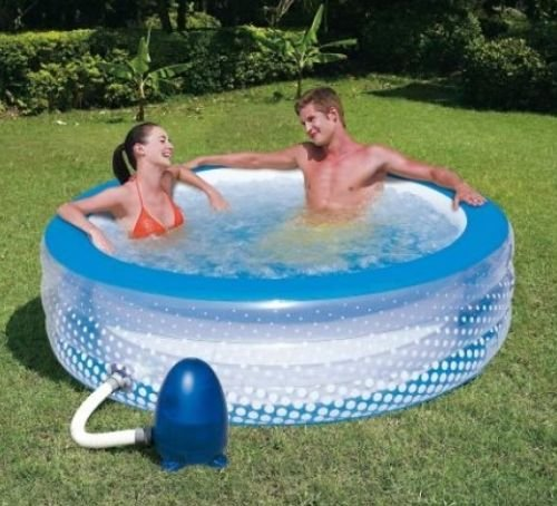 Spa gonflable design pour le jardin for Photo piscine gonflable