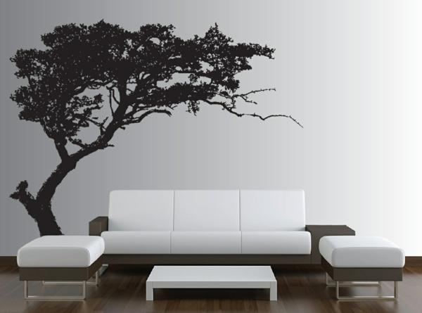 sticker-muraux-arbre-noire-canape-blanc