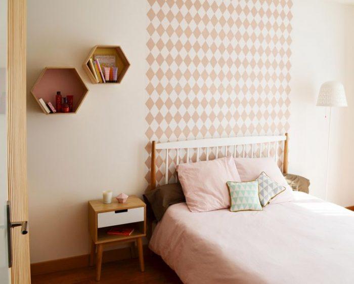 tête de lit mosaïque en papier