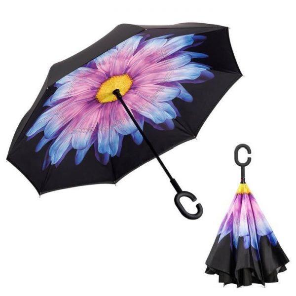 parapluie inversé fleur