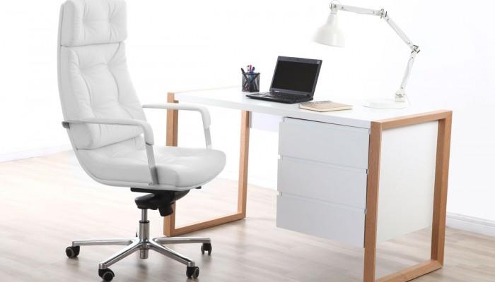 Fauteuil de bureau blanc allier confort et élégance