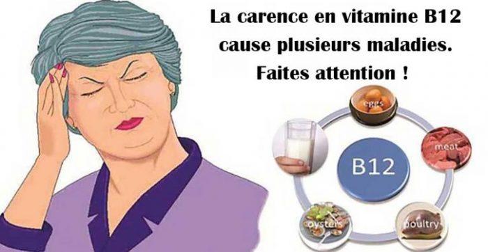 La carence en vitamine B12
