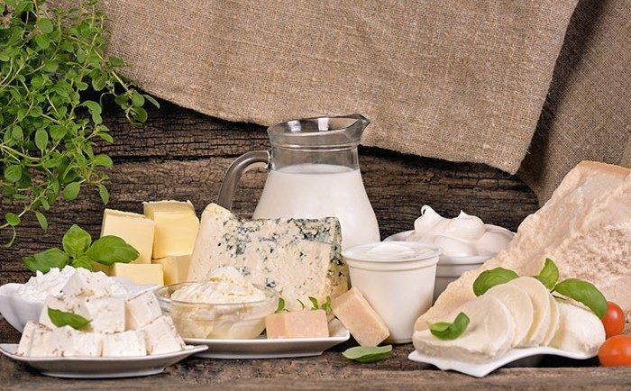 produits laitiers et calcium