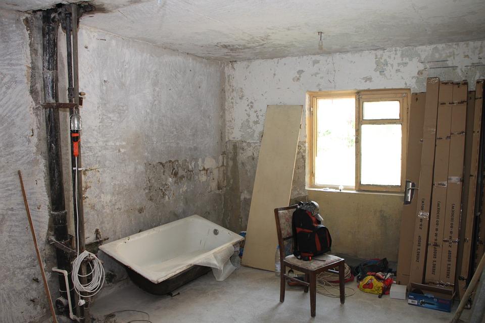 Préparation importante pour rénovation d'intérieur