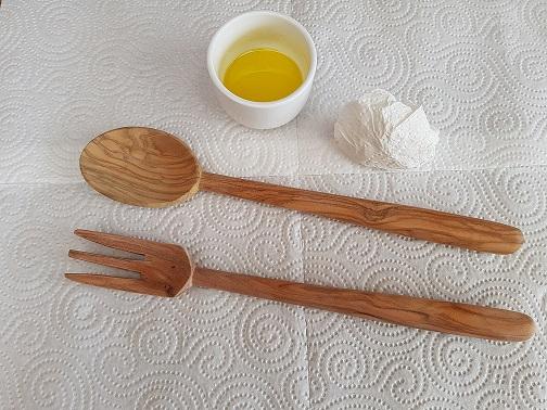 Nourrir avec de l'huile d'olive